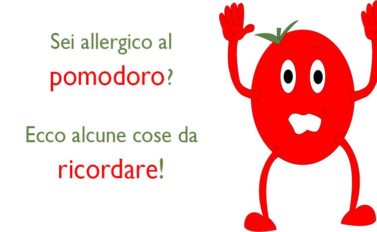 Foto di un pomodoro che si arrende a chi è allergico ai pomodori