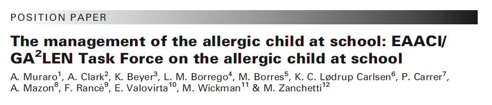 Allergie a scuola