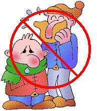 Foto di due persone che hanno il naso arrossato per il troppo raffreddore