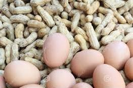 Uova e arachidi
